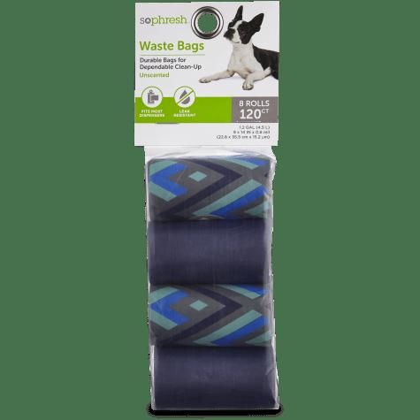 So Phresh Blue Chevron Dog Waste Bag Refills