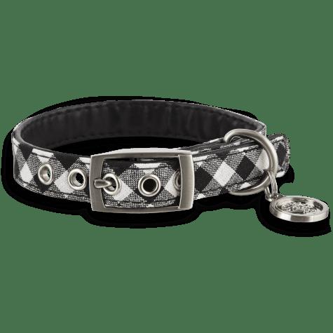 Bond & Co. Black & White Gingham Collar for Small Dogs
