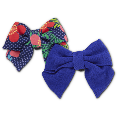 Bond & Co. Blue Floral Bows for Small Dogs, 2 Pack