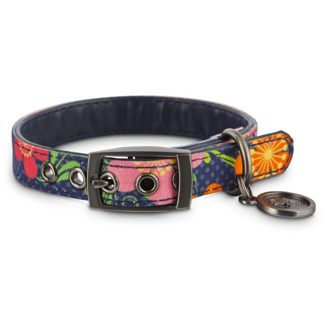 Bond & Co. Blue Floral Collar for Small Dogs