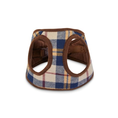 Bond & Co. Brown Plaid Fashion Harness for Small Dogs