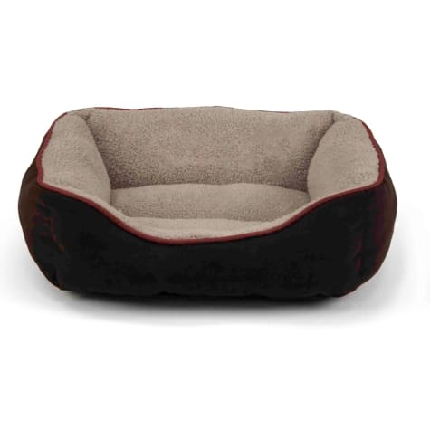 Dallas Manufacturing Brown Faux Suede Cuddler Pet Bed