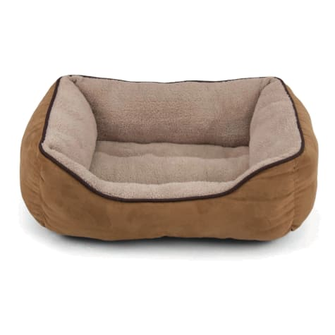 Dallas Manufacturing Tan Faux Suede Cuddler Pet Bed