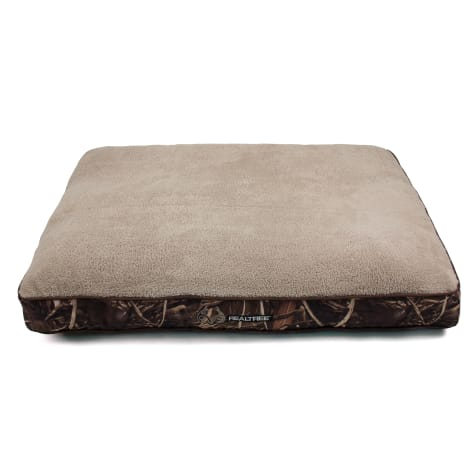 Realtree Camouflage with Brown Trim Memory Foam Pet Bed