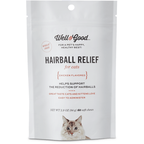 Well & Good Hairball Relief Soft Chew Cat Supplement
