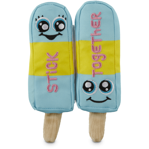 Leaps & Bounds Plush Popsicle Stick Together Dog Toy
