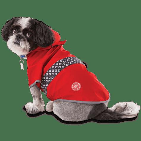 Good2Go Reversible Dog Raincoat in Red