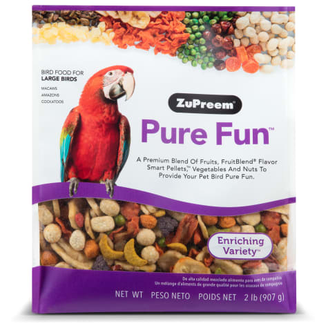 ZuPreem Pure Fun Bird Food for Large Birds, 2 lbs.