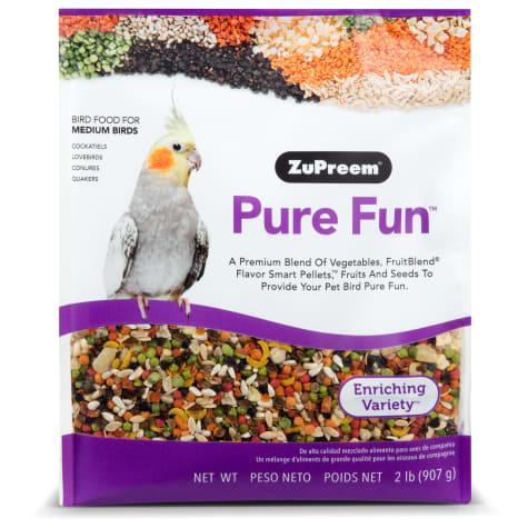 ZuPreem Pure Fun Bird Food for Medium Birds, 2 lbs.