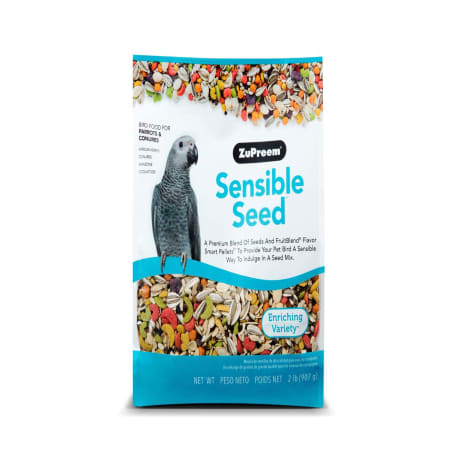 ZuPreem Sensible Seed Bird Food for Parrots & Conures, 2 lbs.