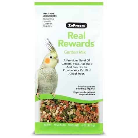 ZuPreem Real Rewards Garden Mix Treats for Medium Birds