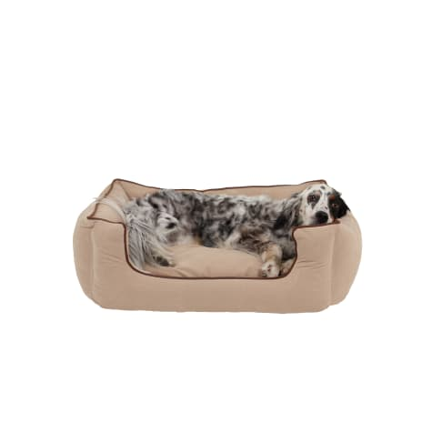 Carolina Pet Company Cream Microfiber Kuddler Lounge Dog Bed