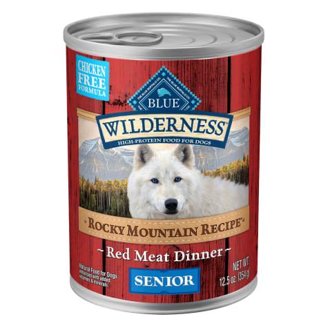 Blue Buffalo Blue Wilderness Rocky Mountain Recipe Red Meat Recipe Senior Wet Dog Food