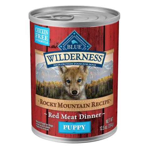 Blue Buffalo Blue Wilderness Rocky Mountain Recipe Red Meat Recipe Wet Puppy Food