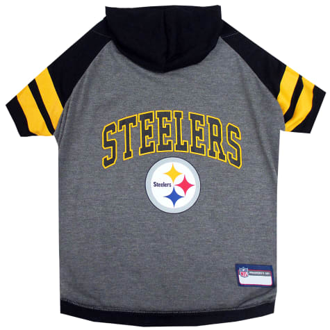 Pets First Pittsburgh Steelers Hoodie Tee Shirt For Dogs