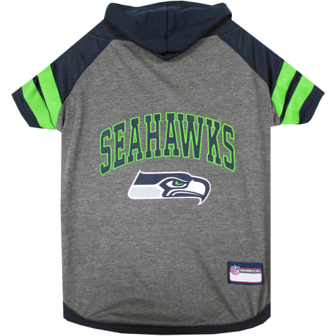 Pets First Seattle Seahawks Hoodie Tee Shirt For Dogs