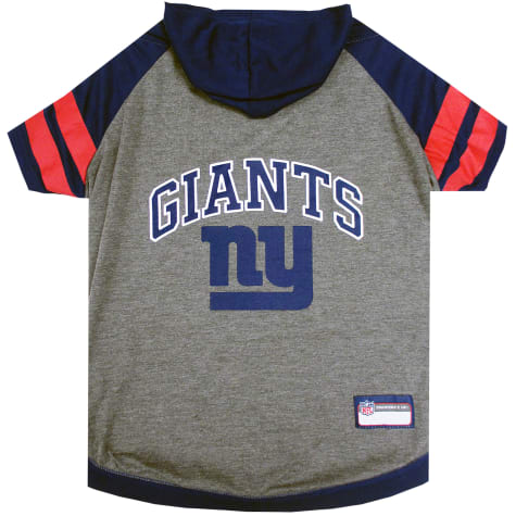 Pets First New York Giants Hoodie Tee Shirt For Dogs