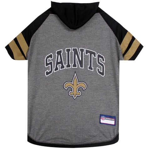 Pets First New Orleans Saints Hoodie Tee Shirt For Dogs