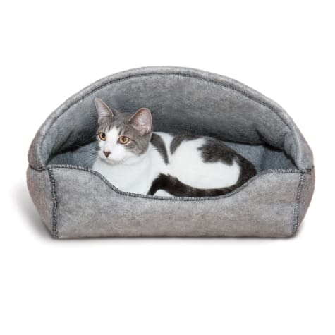 K&H Gray Amazin' Hooded Cat Lounger