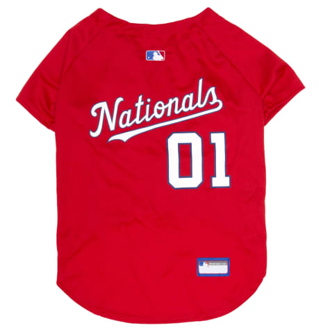 Pets First MLB Washington Nationals Jersey for Dogs