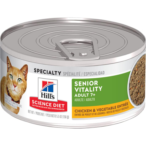 Hill's Science Diet Adult 7+ Youthful Vitality, Chicken & Vegetable Entree Canned Wet Cat Food