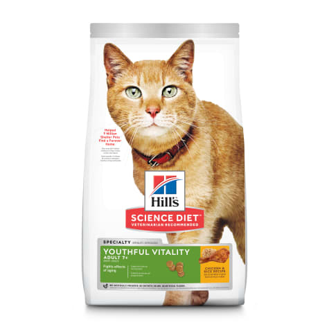 Hill's Science Diet Adult 7+ Youthful Vitality Chicken & Rice Recipe Dry Cat Food