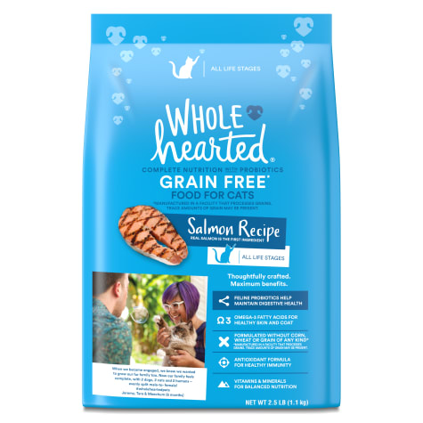 WholeHearted Grain Free Salmon Formula Dry Cat Food
