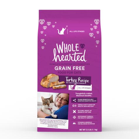 WholeHearted Grain Free Turkey Formula Dry Cat Food
