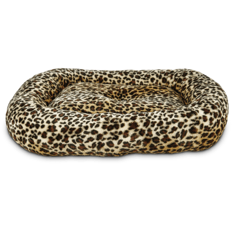 Harmony Rectangle Cat Bed in Cheetah
