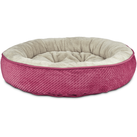 Harmony Textured Round Cat Bed in Pink