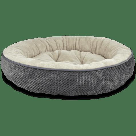 Harmony Textured Round Cat Bed in Dark Grey