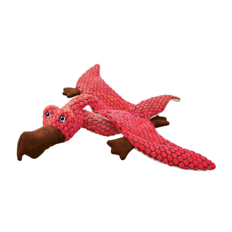 KONG Dynos Pterodactyl Coral Dog Toy