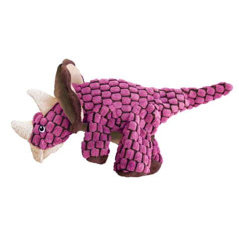 KONG Dynos Triceratops Pink Dog Toy