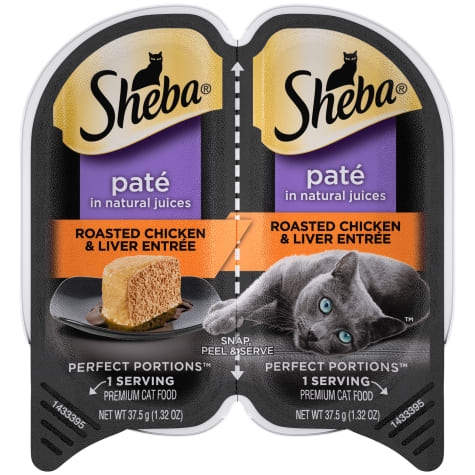 Sheba Perfect Portions Roasted Chicken and Liver Entree Wet Cat Food
