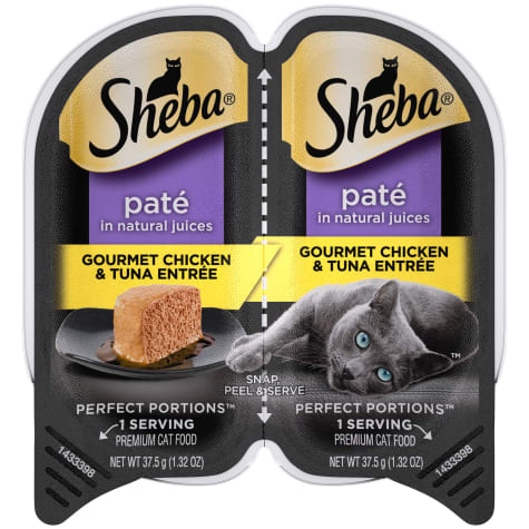 Sheba Perfect Portions Gourmet Chicken and Tuna Entree Wet Cat Food