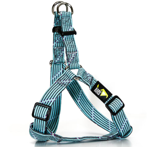 5280DOG Turquoise Braided Step-In Harness