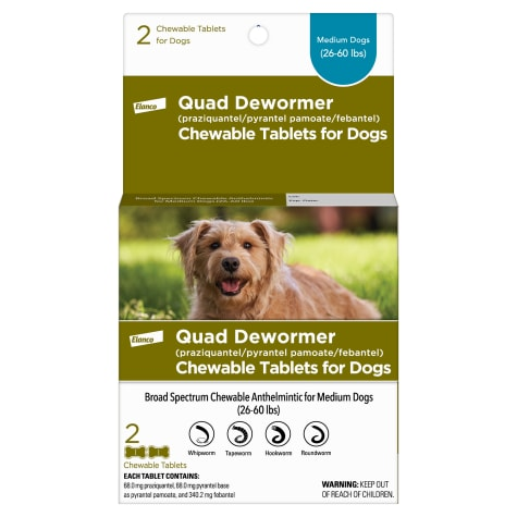 Bayer Quad Dewormer Tablets for Dogs 26 to 60 lbs.