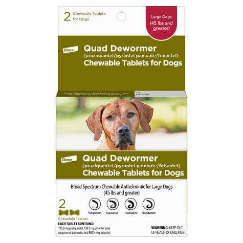 Bayer Quad Dewormer Tablets for Dogs Over 45 lbs.