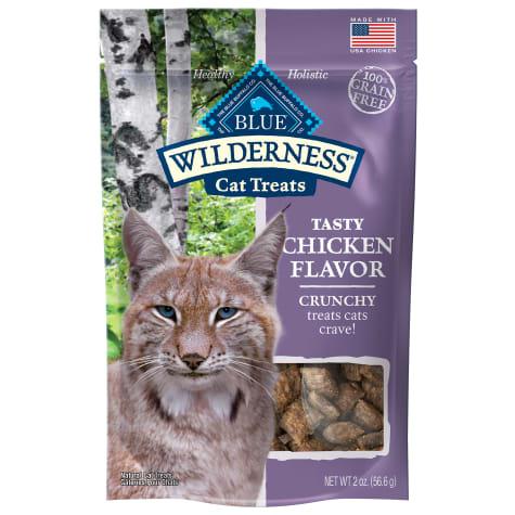 Blue Buffalo Blue Wilderness Chicken Flavor Crunchy Cat Treats