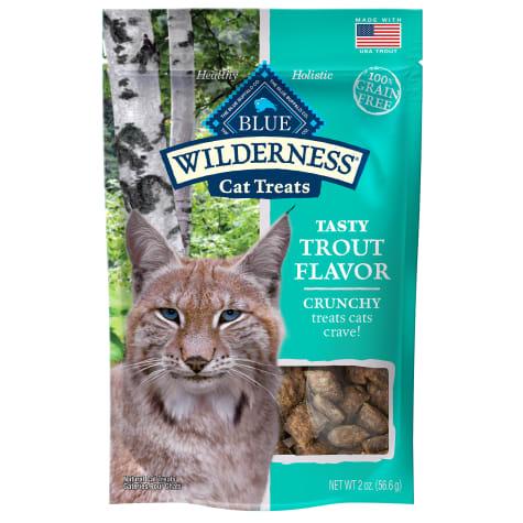 Blue Buffalo Wilderness Crunchy Trout Flavor Cat Treats