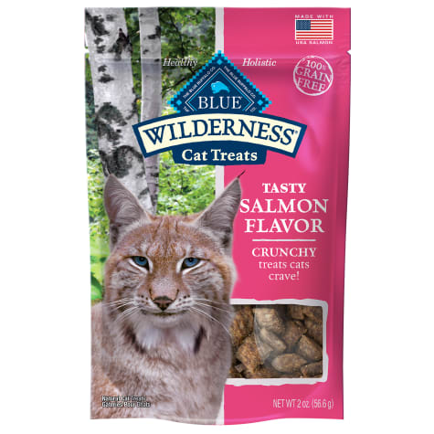 Blue Buffalo Blue Wilderness Salmon Flavor Crunchy Cat Treats