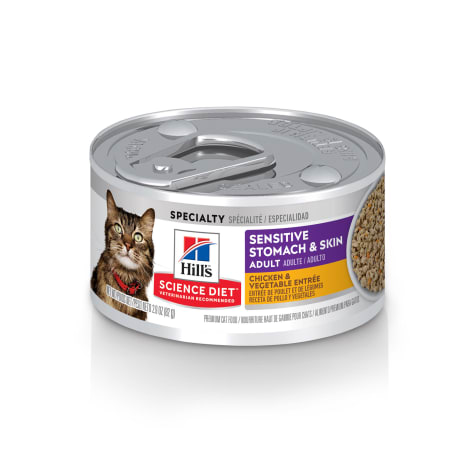 Hill's Science Diet Sensitive Stomach & Skin Chicken & Vegetable Entree Canned Cat Food