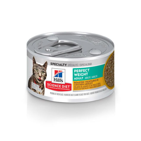 Hill's Science Diet Perfect Weight Roasted Vegetable and Chicken Medley Canned Cat Food