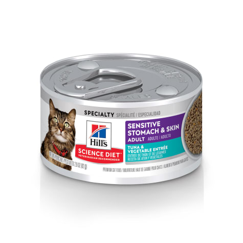 Hill's Science Diet Sensitive Stomach, Skin Tuna & Vegetable Entree Canned Cat Food