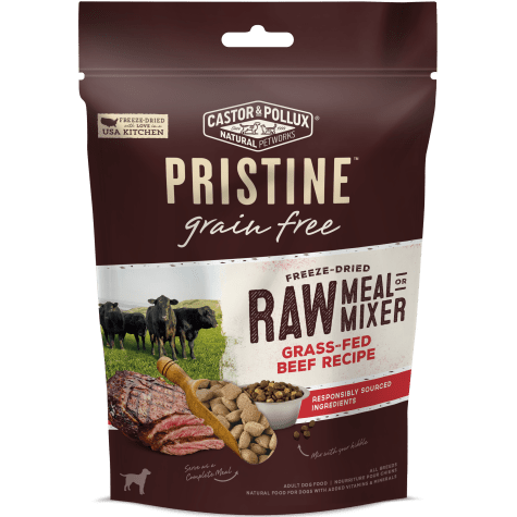 Castor & Pollux Pristine Grain Free Freeze-Dried Raw Meal or Mixer Grass-Fed Beef Recipe Adult Dry Dog Food