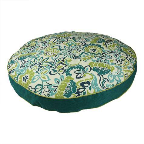 Snoozer Indoor Outdoor Round Dog Bed in Zoe Pattern