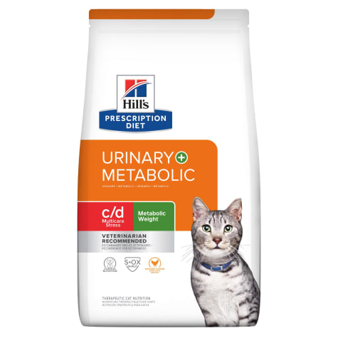 Hill's Prescription Diet Metabolic + Urinary Stress, Weight + Urinary Care Chicken Flavor Dry Cat Food