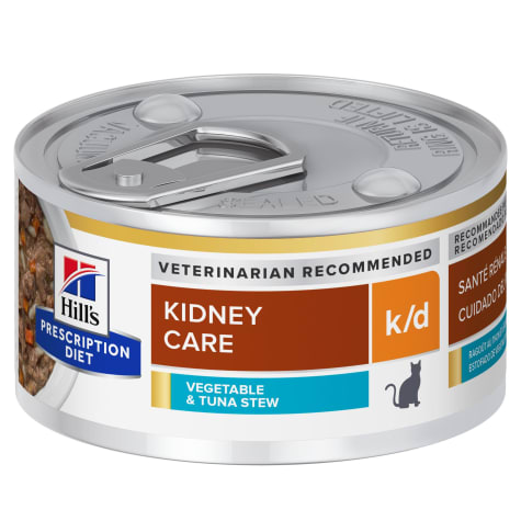 Hill's Prescription Diet k/d Kidney Care Vegetable, Tuna & Rice Stew Canned Cat Food