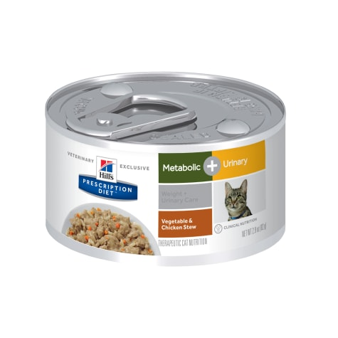 Hill's Prescription Diet Metabolic + Urinary, Weight Vegetable & Chicken Stew Canned Cat Food