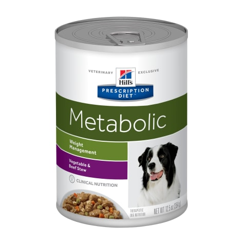 Hill's Prescription Diet Metabolic Weight Management Vegetable & Beef Stew Canned Dog Food